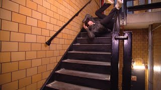 Video Hollywood Stuntman Shares the Best Way to Fall Down the Stairs download MP3, 3GP, MP4, WEBM, AVI, FLV November 2017