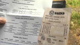 Eurojackpot tiket s miliardovymi cisly spalen! Eurojackpot ticket in flames - 90 million EUR