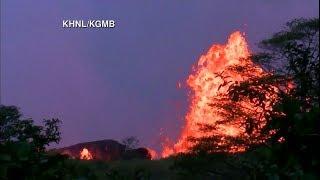Hawaiian Volcano Erupts with Lava   Kilauea LIVE