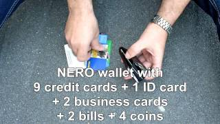 NERO Wallet - RFID Blocking Wallet Leather - the most compact wallet Thumbnail