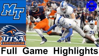 Middle Tennessee vs UTSA (INSANE GAME) | College Football Week 4 | 2020 College Football Highlights