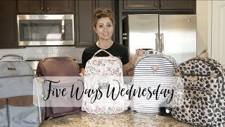 Five Ways Wednesday | Comparing Five Popular Diaper Bag Backpacks | The Sensible Mama