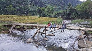 แบ่งปันน้ำใจสู่เมืองลาว EP28:ธรรมชาติริมน้ำ เบิ่งชาวบ้านเกี่ยวข้าว สะพานไม้ไผ่ อาบน้ำยามแลง