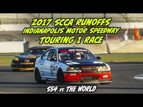 2017 SCCA Runoffs Indy T1 race car #23 BMW E46 M3