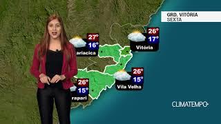 Previsão Grande Vitória - Mais nuvens se formam