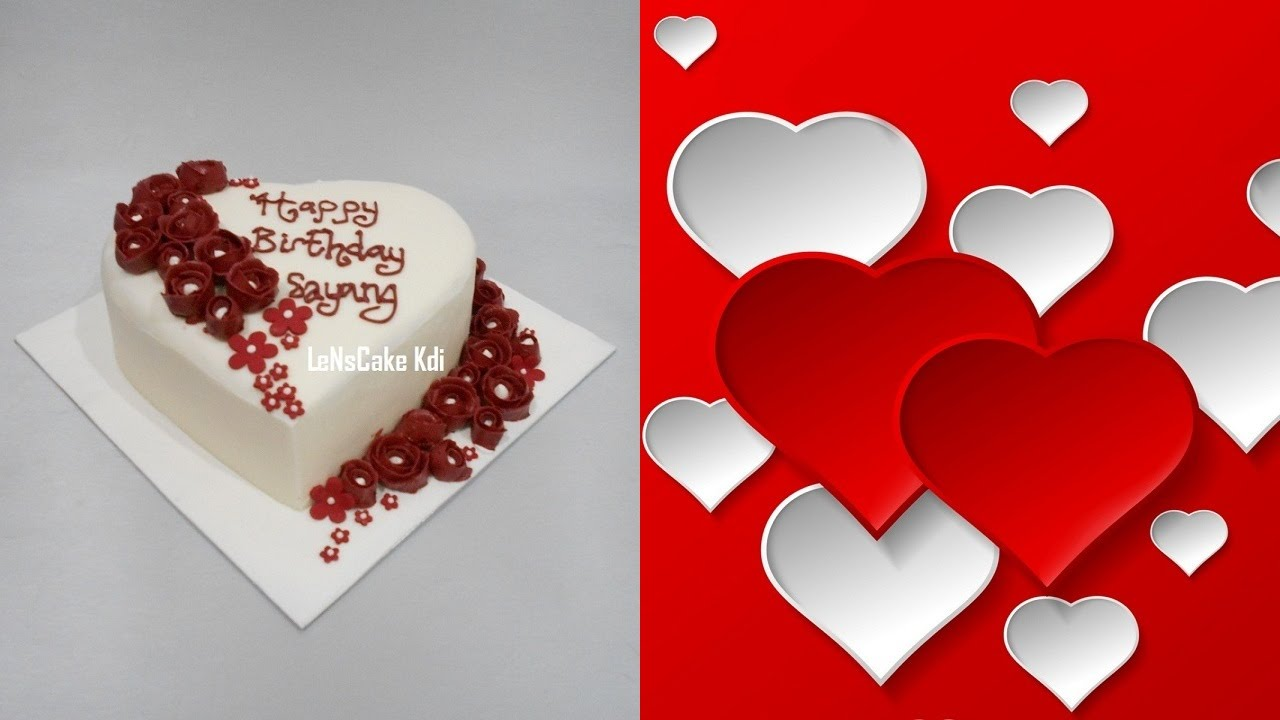 Love Cake Design Easy - YouTube