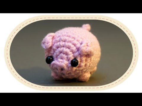 Как связать крючком свинку