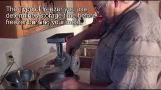 Recipe 6 Grinding Venison Burger