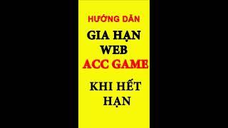 Hướng dẫn gia hạn web bán acc game tự động - gia hạn shop acc
