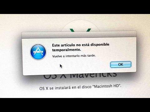 """POSIBLE SOLUCIÓN: """"Este articulo no esta disponible temporalmente"""" al formatear una Mac"""
