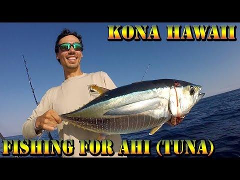 Deep Sea Boat Fishing For Ahi (Tuna), Kawakawa, and Omilu - Bottom Fishing In Kailua Kona - Day 1/3