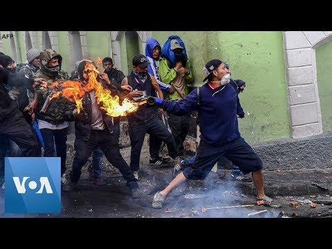 Violent Protests Continue Over Fuel Price Hike in Quito, Ecuador