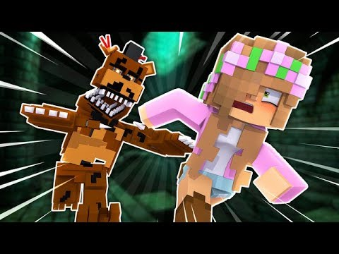 ESCAPE THE BASEMENT! NIGHTMARE FREDDY KIDNAPS ME! Minecraft Little Kelly