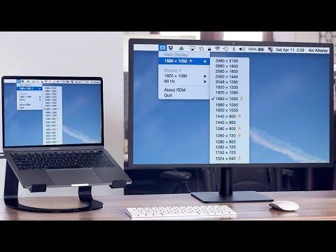 RDM Retina Display Menu MacOS Как выставить пользовательское разрешение
