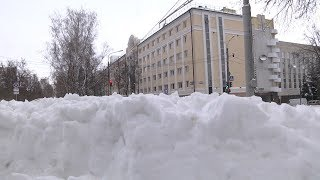 Снегопад в Саранске. Коммунальщики почти победили непогоду