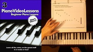 Beginner Piano Video Lessons - Lesson 3 - Hand Technique - Your First Song!(Beginner Piano Lesson #3 Play a simple song on black keys while learning proper hand technique.To better view this video and access all files watch it here: ..., 2015-01-19T02:48:58.000Z)