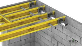 Монтаж балок перекрытия STEICO Joist(Steico Joist - двутавровые деревянные балки - опорные строительные элементы для конструкции стен, перекрытий,..., 2015-10-15T13:57:12.000Z)