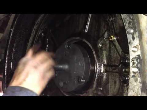 Part 1  Rear Main Seal installation 3406 caterpillar - YouTube