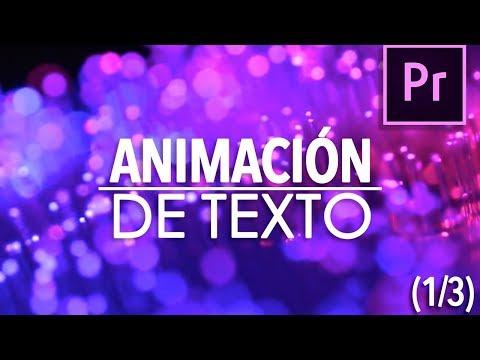 (1/4) Animación de texto: Intro simple | Tutorial Adobe Premiere Pro CC 2017