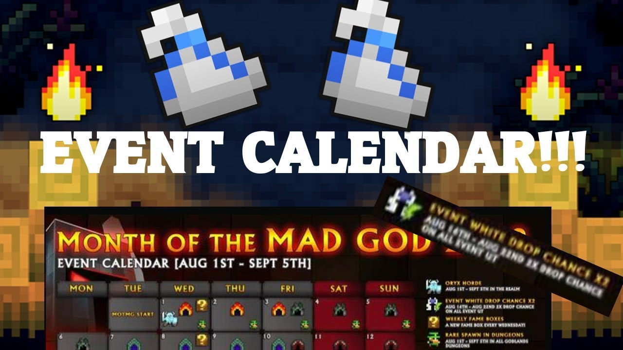 Rotmg Month Of The Mad God Calendar Max Level Increased To 25