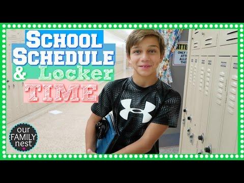 SCHOOL SCHEDULE & LOCKER TIME | BACK TO SCHOOL SERIES BEGINS!