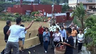 Pedro Álvarez con la Virgen del Carmen