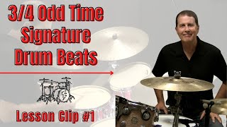 3/4 Drum Beat #1 - JohnX Online Drum Lessons