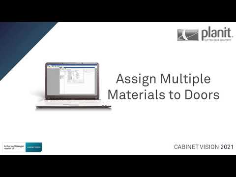 Assign Material Schedules to Multiple Doors | CABINET VISION 2021