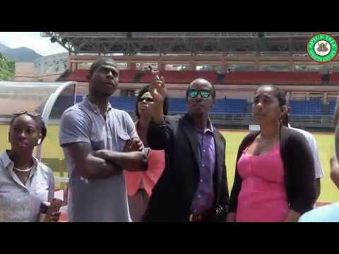 Chris Brown tours Grenada's National Athletic Stadium
