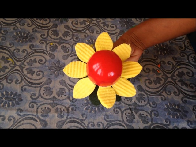 sunflower craft | sunflower craft ideas | best out of waste | diy project | waste materials | wipes