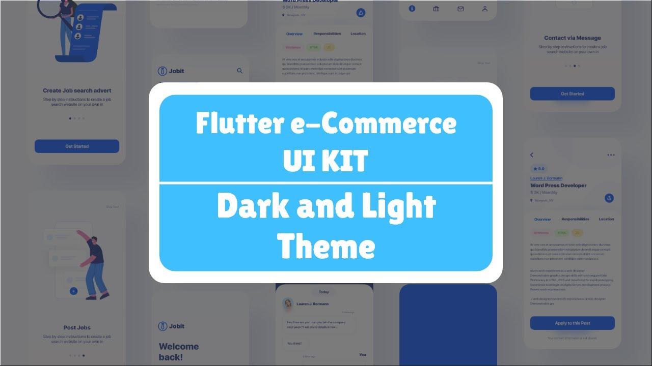 Flutter e commerce UI Kit - Light and Dark Theme Implementation