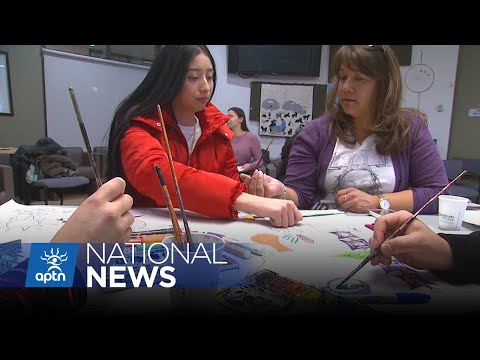 Students painting their way to reconciliation in Ottawa | APTN News