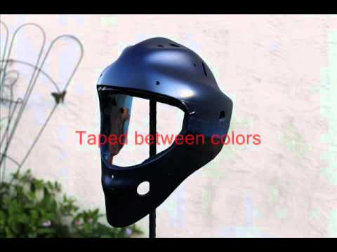 Custom Goalie Mask Paint Job Youtube