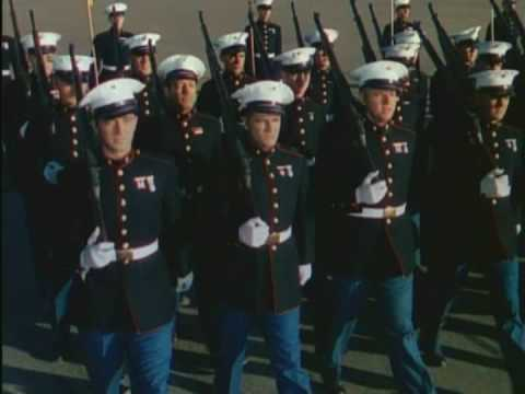 U.S. Marines on Parade in Dress Blues - YouTube