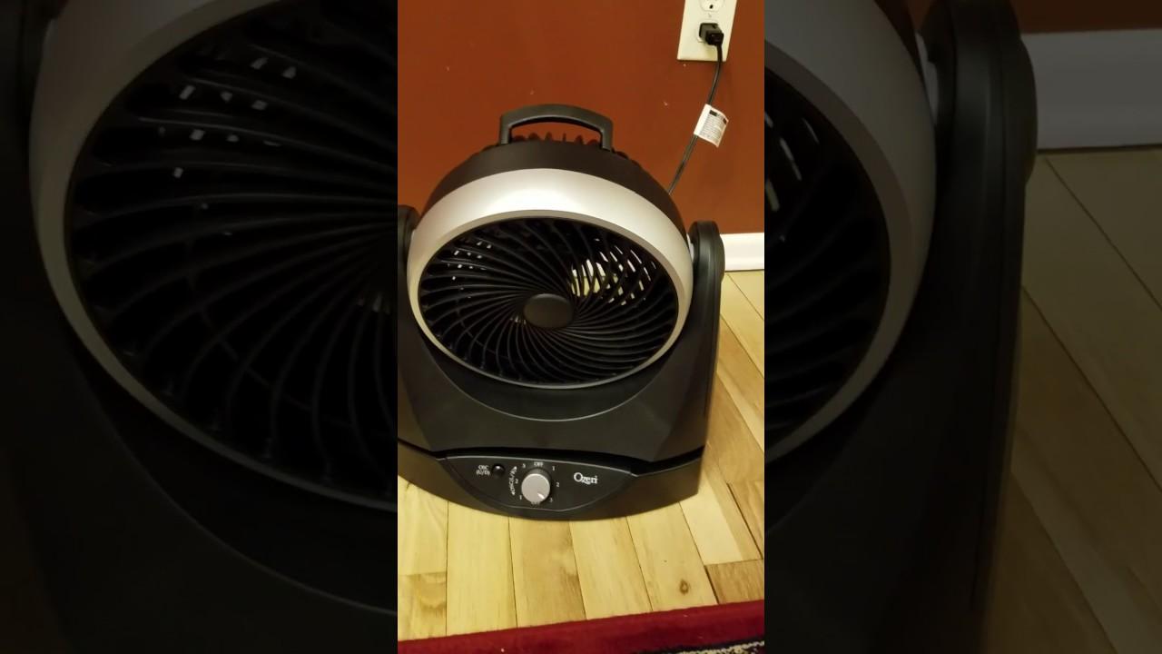 Ozeri Brezza II Dual Oscillating 10 High Velocity Desk Fan Home ...