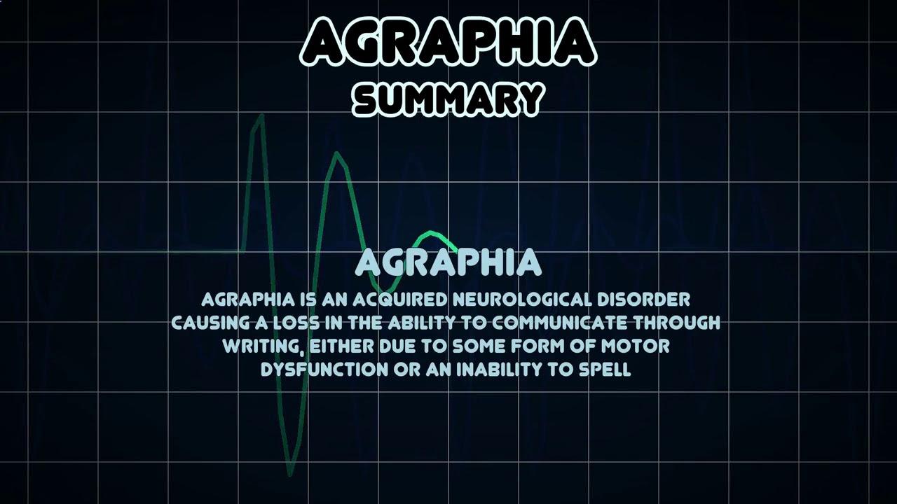 agraphia symptoms