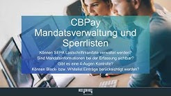 Mandatsverwaltung und Sperrlisten in CBPay
