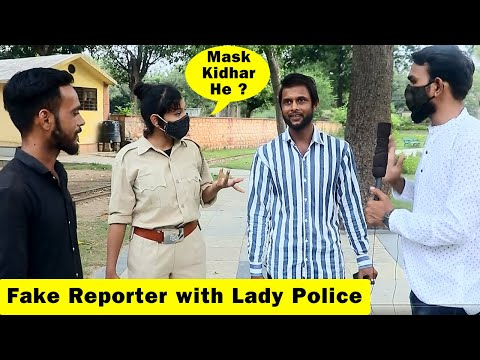 Fake Reporter Prank with Lady Police | Bhasad News | Pranks in India