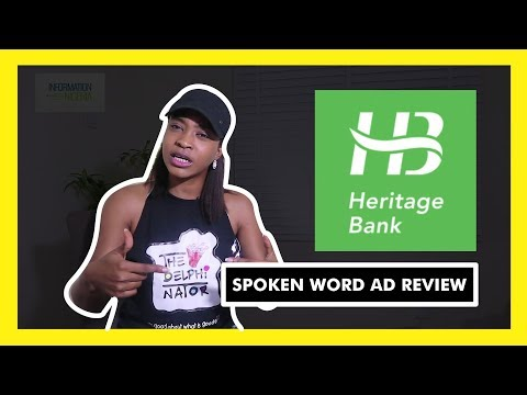 HERITAGE BANK ADVERT SPOKEN WORD PIECE BY TITILOPE & EFE PAUL AZINO | Ad Review Series