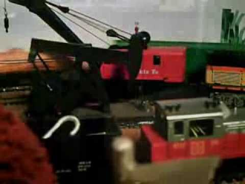 Animated HO scale train layout!