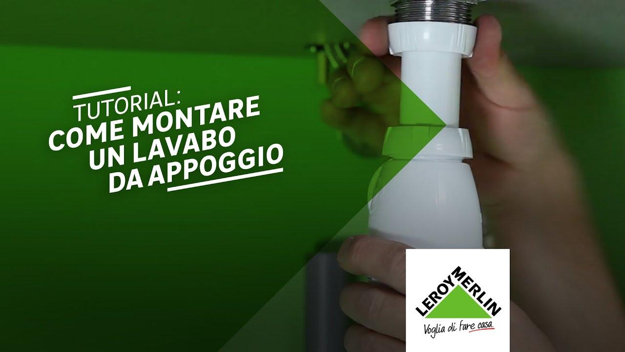 Lavandini Bagno Salvaspazio : Come posare un lavabo da appoggio tutorial leroy merlin youtube