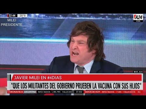 """""""NO a la vacuna obligatoria"""" Brillante Javier Milei en A24- 24/11/20"""