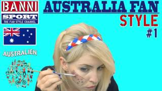 Australien Australia 澳大利亞 - Sport Fan Style #1 - Original National Banni Sports Make-up