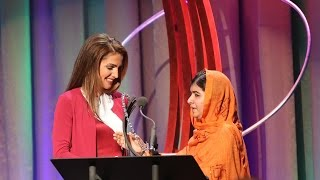 Queen Rania Presents Malala the Civil Society Award