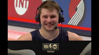 Luka Doncic Joins the Tuesday Crew After His Game-Winner vs. the Celtics | NBA on TNT