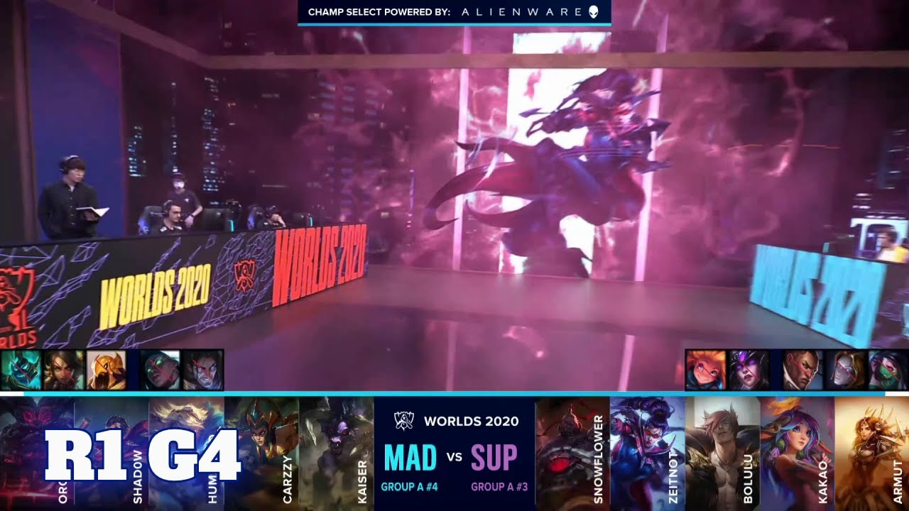 Download SUP vs MAD - Game 4 | Round 1 Play-Ins S10 LoL Worlds 2020 | SuperMassive vs Mad Lions G4