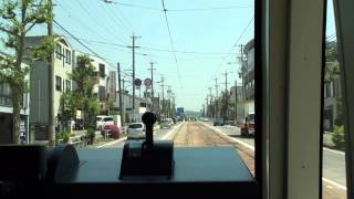 豊橋鉄道T1000形電車。豊橋路面電車「ほっトラム」。豊橋鉄道東田本線。駅前停留場から赤岩口停留場までです。