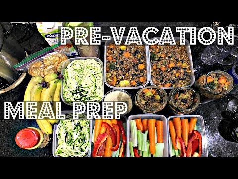PRE-VACATION MEAL PREP (VEGAN, EASY, HEALTHY) ♥ Cheap Lazy Vegan