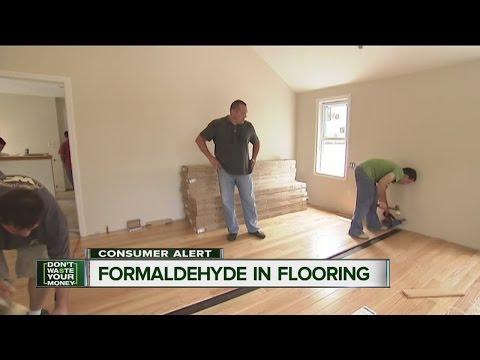 Formaldehyde in flooring
