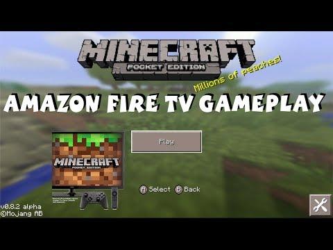 Amazon Fire TV Minecraft Gameplay - Minecraft Pocket Edition 1080P